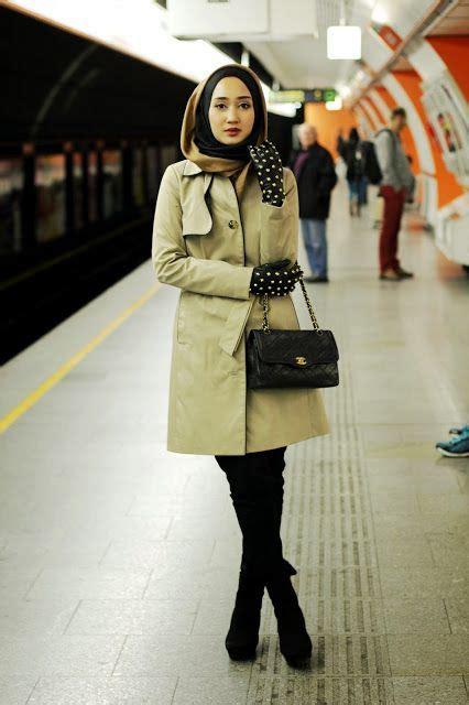short biography dian pelangi cozy winter hijab fashion looks for muslim ladies girls