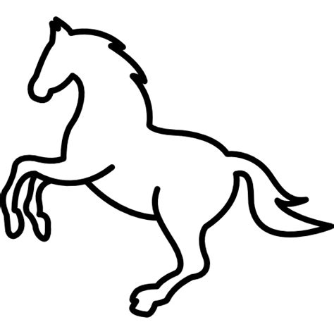 Home Interior Furniture Design by Jump Outline Animals White Outlined Jumping Horses