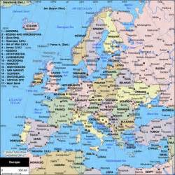 European Cities Map by Political Map Of Europe Google Search Maps Pinterest