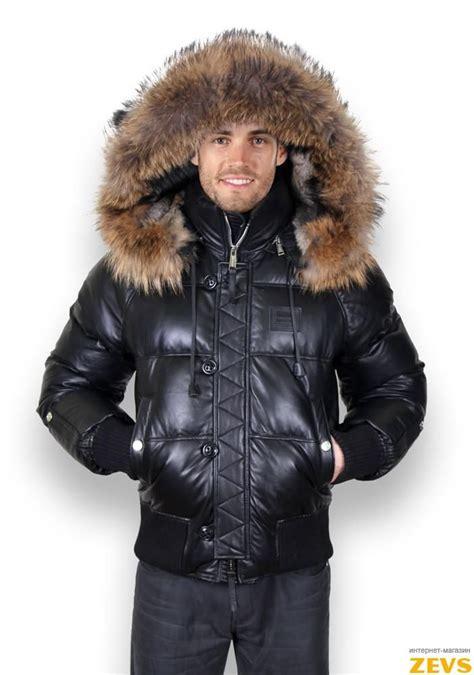Зимние мужские пуховики с мехом фото