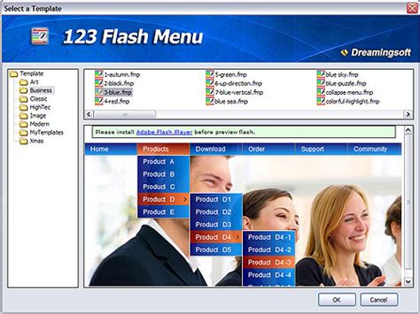 create flash menu as easy as 123 123 flash menu