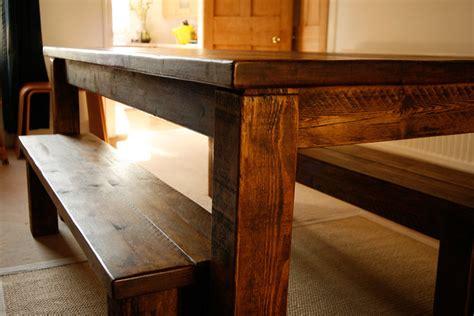 left corner bench  farmhouse table  flickr