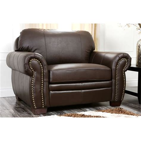 oversized leather chair and ottoman abbyson living ci d210 brn 3 1 4 brighton premium italian