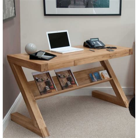 Small Oak Computer Desk Z Solid Oak Designer Small Computer Desk Furniture4yourhome
