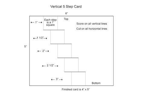 4 Step Card Template by Vertical Step Card Tutorial Splitcoaststers