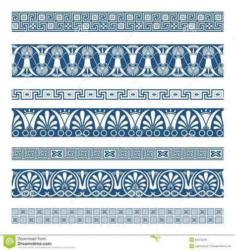 frames  ancient greek style stock vector image