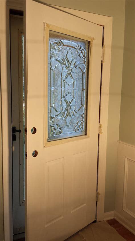decorative panel glass how to add a decorative glass window to a fiberglass door