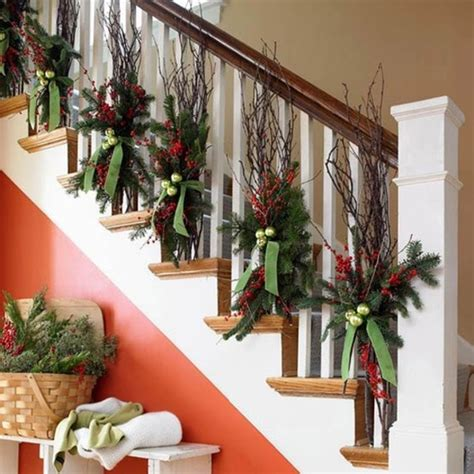 stairs decorations beautiful christmas stair garlands