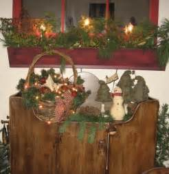 primitive country christmas decorations ideas for
