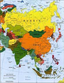 Asia On World Map by China Location Map China S Location In The World