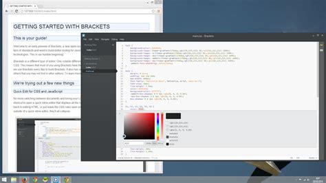 web design code editor brackets code editor untuk web designer