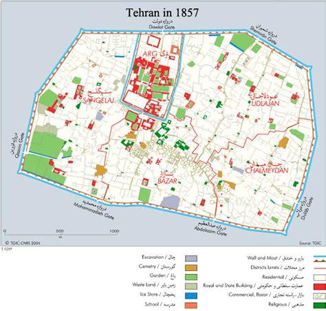 map of tehran iran city map