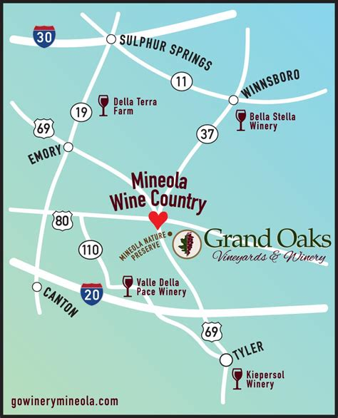 mineola texas map winery in east texas wine tasting vineyard tour mineola tx
