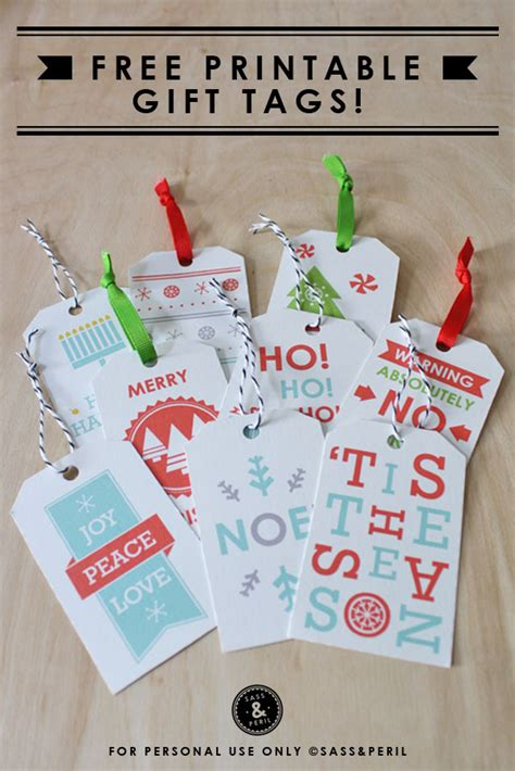 printable christmas tags cute sheek shindigs free holiday printables