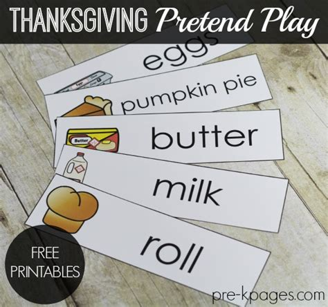 Thanksgiving Tip Make A List Or Two by Thanksgiving Dramatic Play Printables Dramatic Play