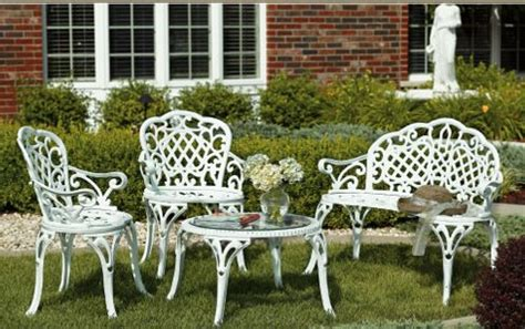 Cast Iron Outdoor Furniture Landscaping Gardening Ideas Cast Iron Patio Set Table Chairs Garden Furniture