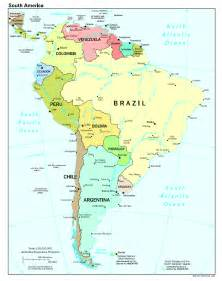political map south america political map of the south america south america