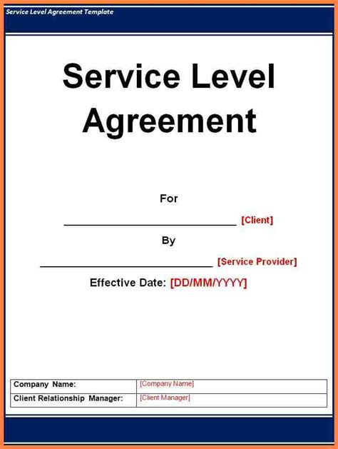 sample service level agreement template purchase agreement group