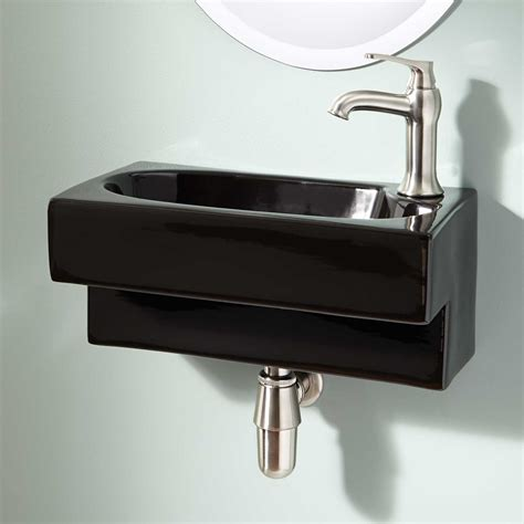 bathroom sink hardware signature hardware hanser wall mount bathroom sink ebay