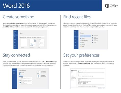 start guide template word 2016 start guide