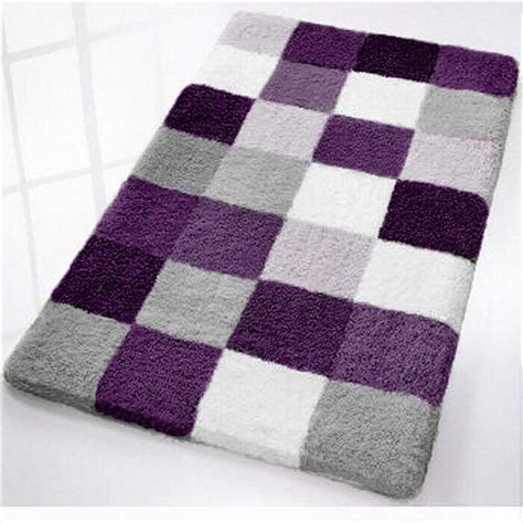 black and gray bathroom rugs caro checker pattern rich multi color plush bathroom rug