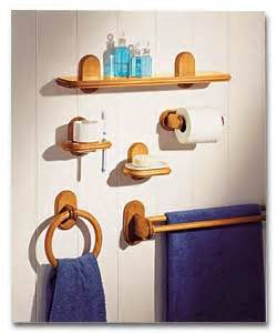 Wood Bathroom Wall Shelf Geneva Antique Pine 6 Piece Bathroom Set Bathroom