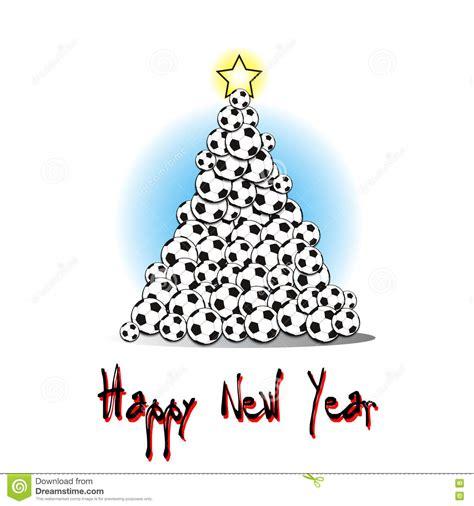 imagenes navidad futbol 193 rbol de navidad de balones de f 250 tbol ilustraci 243 n del