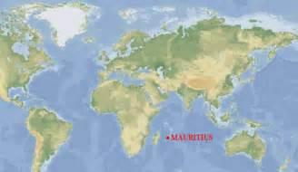 Mauritius On World Map by Mauritius Resa