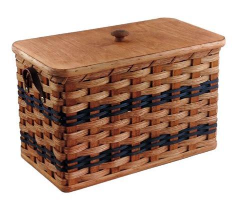 Handmade Bread Box - amish handmade bread box w lid and leather loop handles