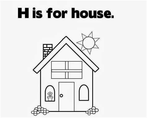 small house coloring page colour drawing free wallpaper small house for kid