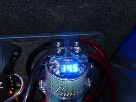 how to connect a 2 farad capacitor to lanzar lq19cap 1 9 farad 12 volt power capacitor