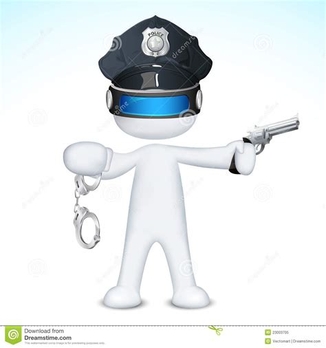3d Police Man In Vector Royalty Free Stock Photo   Image: 23003705