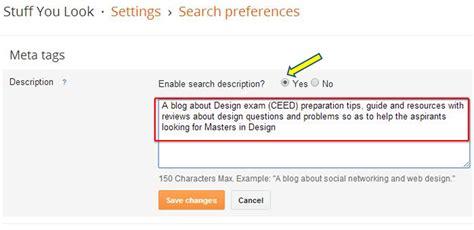 blogger description how to include search descriptions for all blogger posts