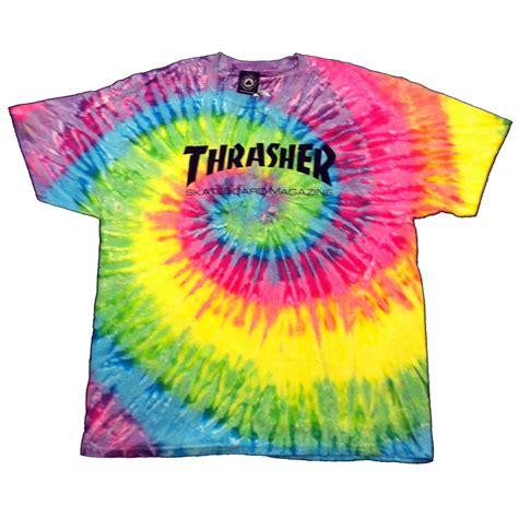thrasher skateboard magazine tie dye t shirt manchester