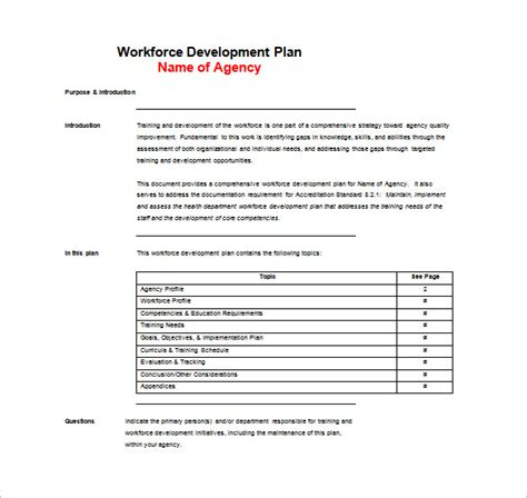 doc 600828 training plan template training plan