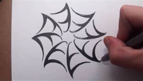 how to tattoo design how to draw a spider web tribal design style