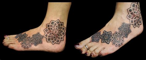 mandala ankle tattoo the map