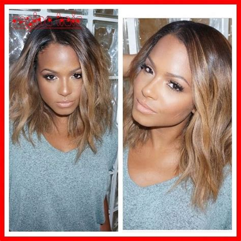 two toned bangs hairstyles for african american gorgeous short ombre wig bob full lace human hair wigs
