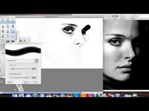 sketchbook pro speed drawing natalie portman speed drawing with sketchbook pro