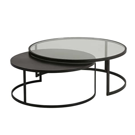 table basse gigogne en verre table basse verre m 233 tal
