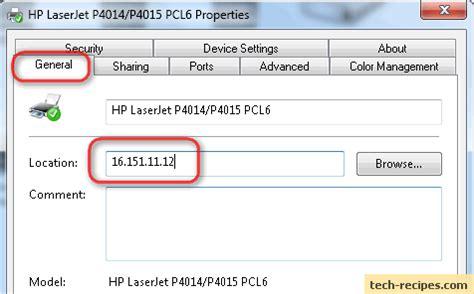 Search Printer Ip Address Windows Find An Ip Address Of A Printer On A Network