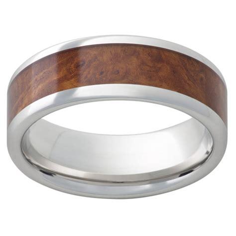 cobalt chrome ring mm  burl wood inlay ccpamboynas