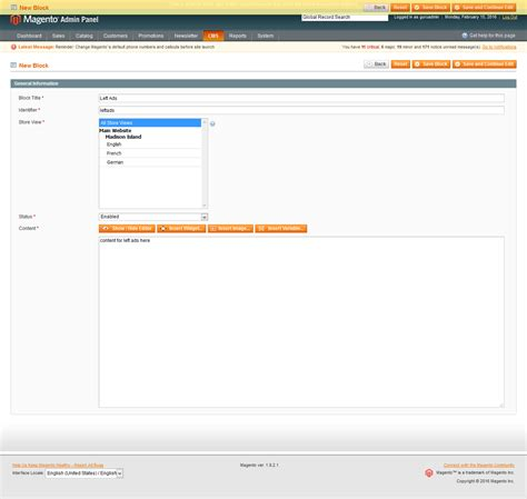 layout update xml static block magento 1 9 how can i add two manageable banner section
