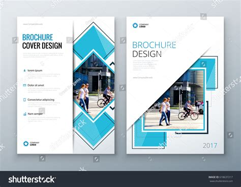 layout design of a company brochure template layout design corporate business stock