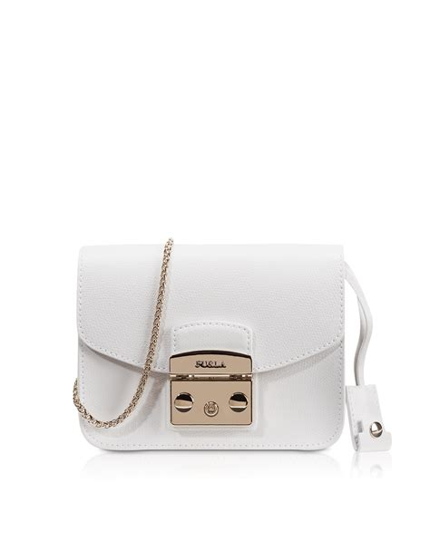 Furla Metropolis Mini Crosbody Include Box lyst furla metropolis chalk leather mini crossbody bag