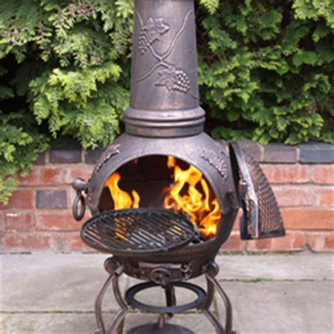 Large Clay Chiminea With Grill Large Mexican Clay Chimenea Scroll Bbq 163 85 49