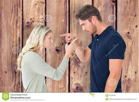 wallpaper of angry couple composite image of angry couple facing off during argument