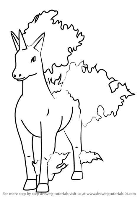 pokemon coloring pages rapidash learn how to draw rapidash from pokemon go pokemon go