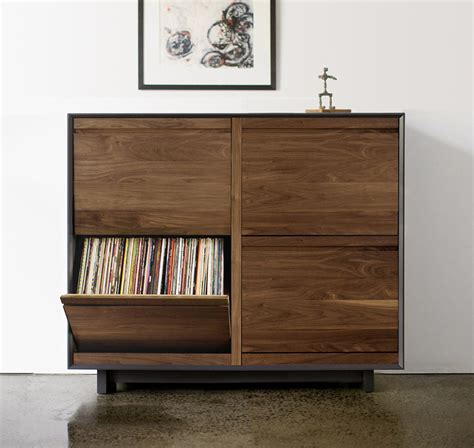 lp record storage cabinet wood 27 vinyl record storage and shelving solutions