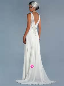 Chiffon Wedding Dress Uk Dresses 30 75 Off Empire V Neck Beading Sleeveless Sweep Brush Train Chiffon Wedding